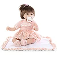 NPK collection Lovely 17インチ42 cm Realistic Looking Rebornベビーガール人形ソフトSiliconeビニール人形おもちゃReal Life Likeベビーガールズ幼児用誕生日クリスマスギフト