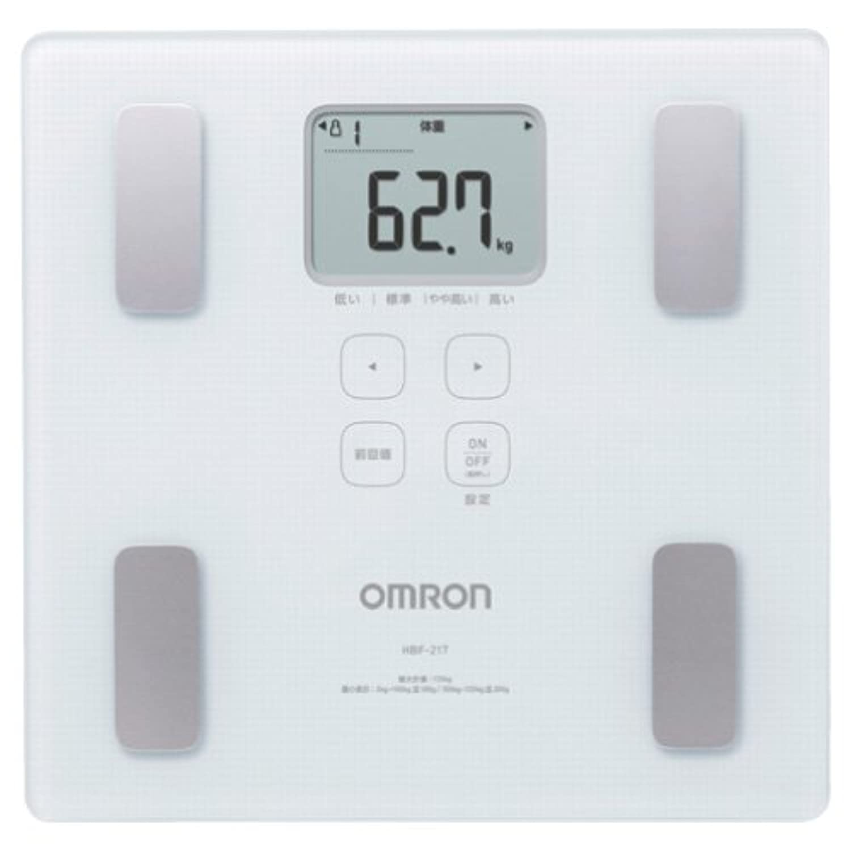 オムロン 体重体組成計カラダスキャン HBF-217-W(ホワイト)