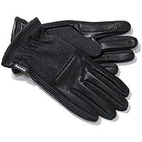 Barbour バブアー MGL0069CH11 RUGGED MELTON WOOL MIX GLOE レザー×ウール グローブ 手袋 CHARCOAL/BLACK [並行輸入品]