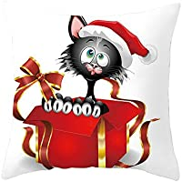 Flax Pgojuni クリスマス 枕カバー 枕カバー ソファ 装飾 クッションカバー スローピロー ソファ/カウチ用 1個 18