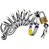 LRWTY カテーテルの陰茎ロックが付いている男性の陰茎ロックのステンレス鋼の貞操帯装置 ( Size : 5.2cm )