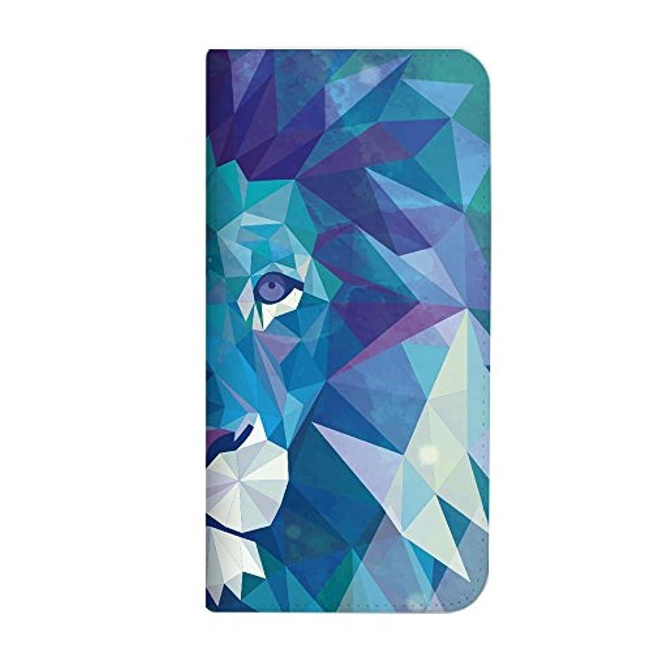 悲惨なガラガラ関連付けるmitas iPhone6sPlus ケース 手帳型 ベルトなし 幾何学 動物 ポリゴン アニマル A?ライオン (75) NB-0225-A/iPhone6sPlus