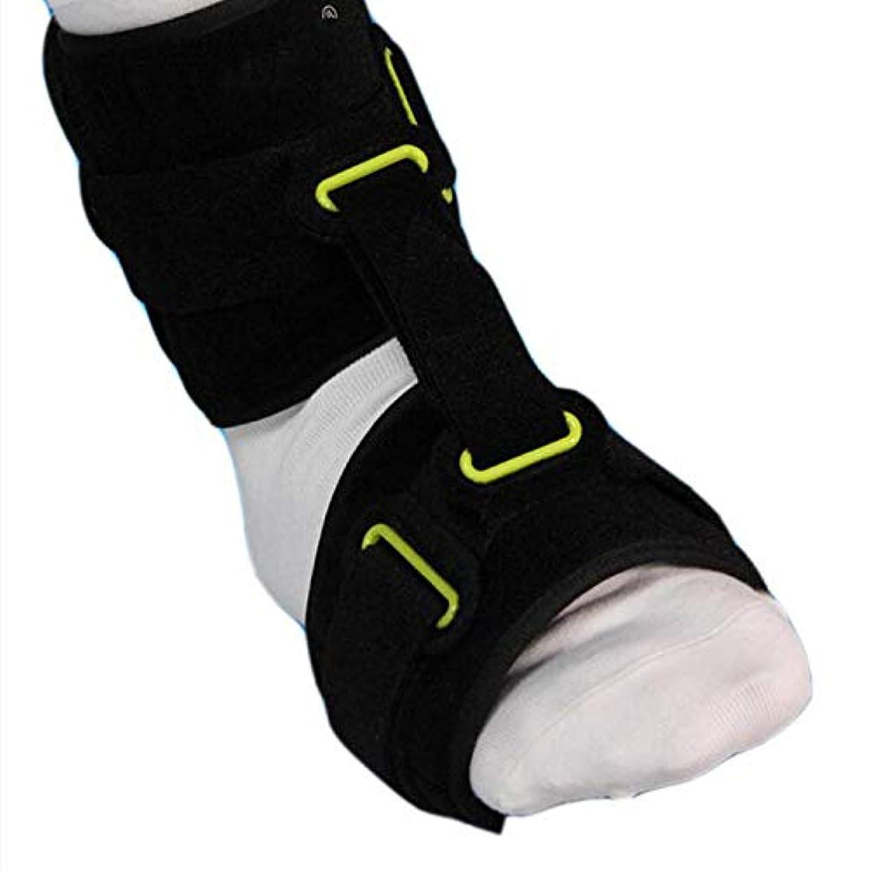 イルお風呂天使足首関節フットドロップ装具、調整可能な足首装具補正AFOが足底筋膜炎の昼と夜の副木装具をサポート