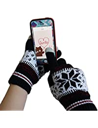 【千客屋】冬に 暖かな防寒用スマホ手袋 タッチグローブ タッチパネル操作OK 2色「504-0013」 (ブラック)