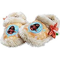 Josmo Kids Disney Moana Toddler Girl's Plush A-Line Slippers with Faux Fur