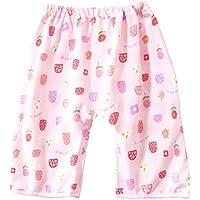 おねしょ対策ケット ズボン パンツ おねしょ ズボンタイプ トレーニングパンツ 防水 通気 女の子 ピンク イチゴ 花 天然コットン 3-5歳 収納ポーチ付
