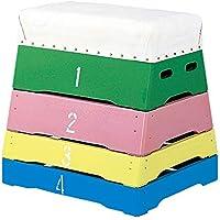 カラー4段とび箱 富士型カラー跳び箱?4段