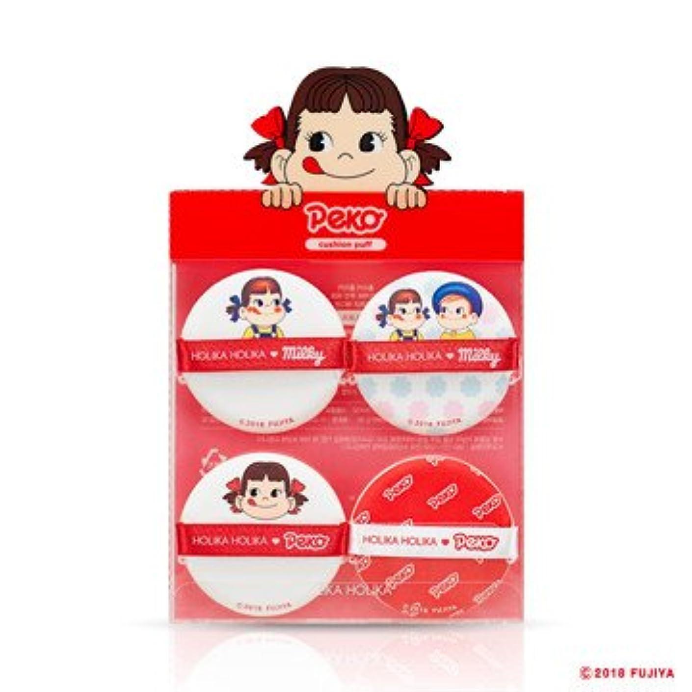 Holika Holika [Sweet Peko Edition] Hard Cover Cushion Puff(4EA)/ホリカホリカ [スイートペコエディション] ハードカバークッションパフ (4枚入り) [並行輸入品]