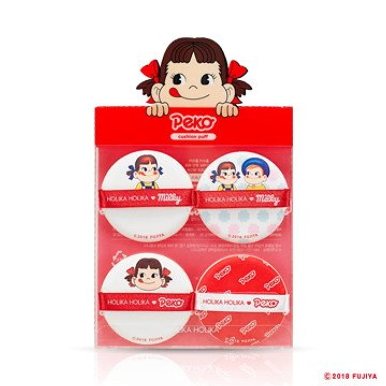 霜機関シリンダーHolika Holika [Sweet Peko Edition] Hard Cover Cushion Puff(4EA)/ホリカホリカ [スイートペコエディション] ハードカバークッションパフ (4枚入り) [並行輸入品]