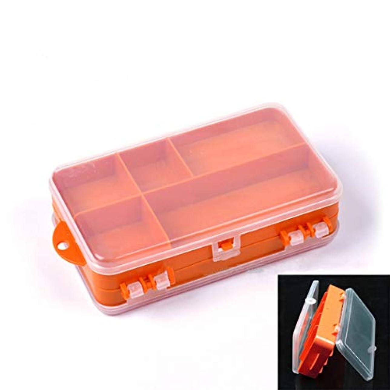 で出来ているゲージブラケットToasis 両面プラスチックボックス 釣りルアーストレージコンテナオーガナイザー 小さな釣りタックルボックス 9コンパートメント 6種類のサイズ展開