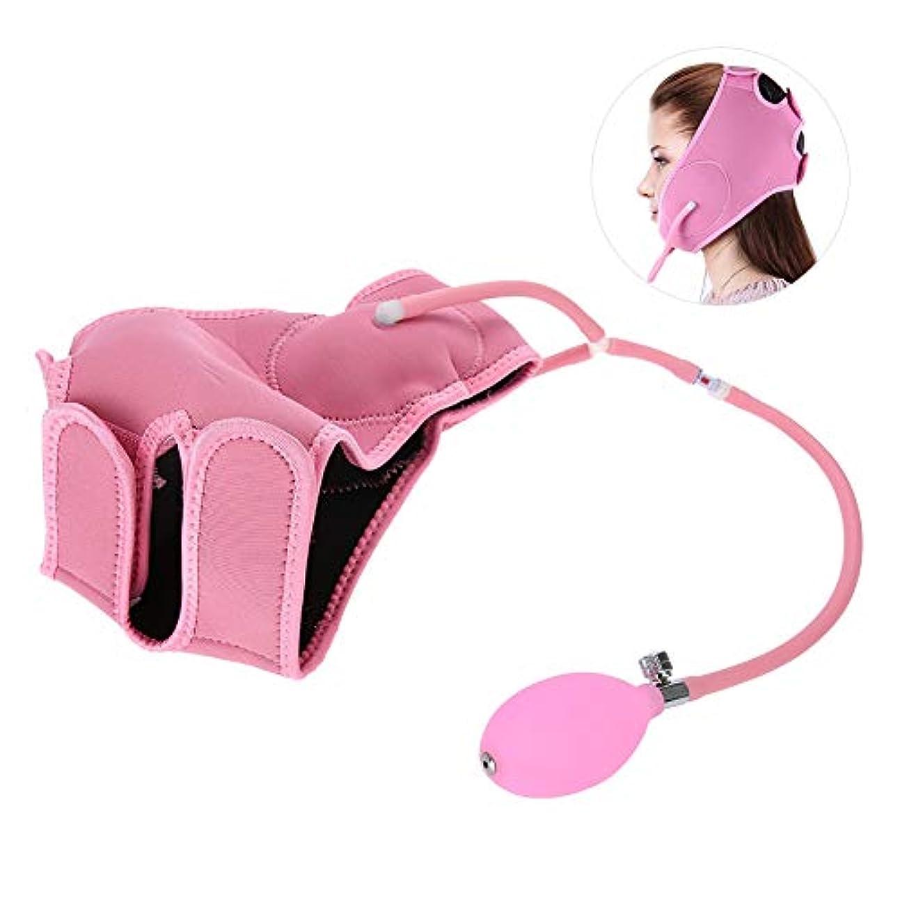 周辺ボットシートエアバッグフェイシャルマスク - フェイスマッサージベルト - 包帯/薄いフェイスベルト - 美容ツールピンク