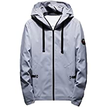 Howme Men Stylish Hooded Casual Leisure Thin Wild Regular-Fit Coats Jacket
