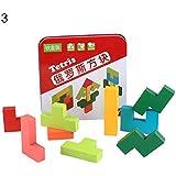 goupgolboll-木の赤ん坊の子供の教育おもちゃのジグソーパズルのビルディングブロックの早い学習 - テトリスのため