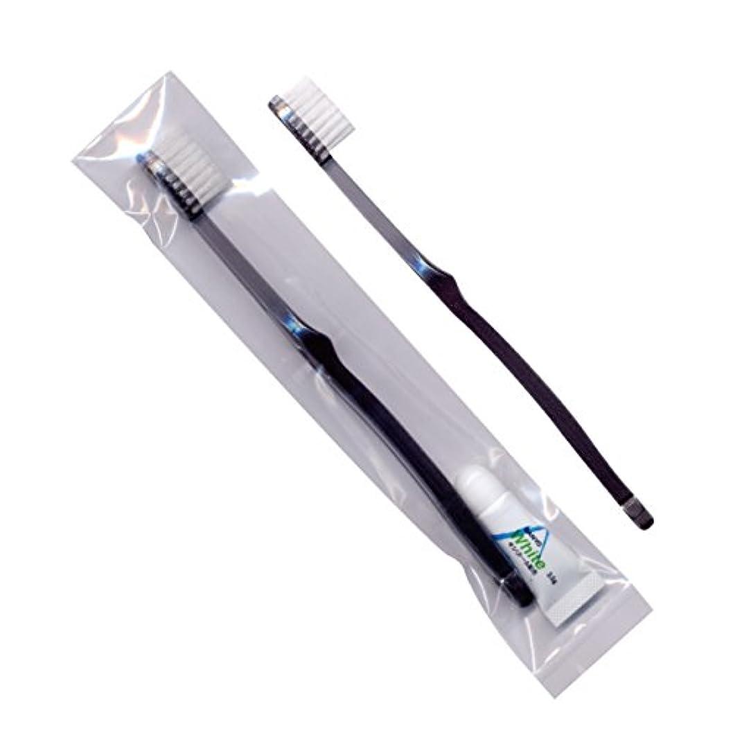 同意中央値限界ホテル業務用歯ブラシ28穴(スモーク)3.5gチューブ OP袋 10本