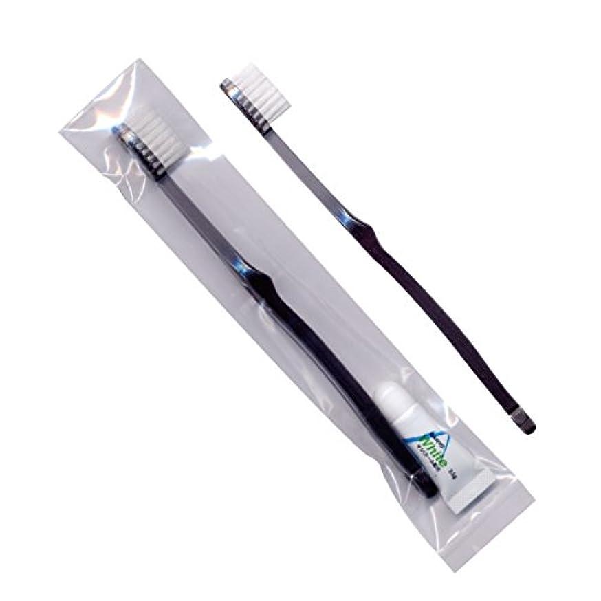 最少手入れ表面的なホテル業務用歯ブラシ28穴(スモーク)3.5gチューブ OP袋 250本