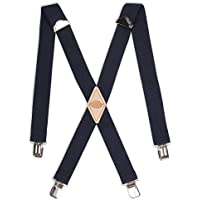 Dickies Men's 1-1/2 Solid Straight Clip Suspender,Navy,One Size