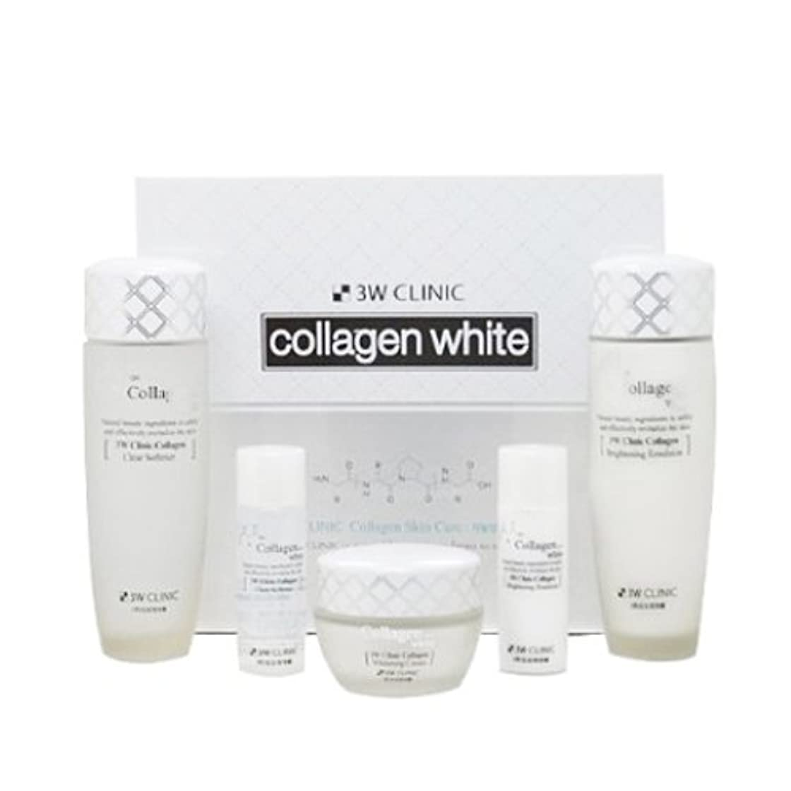 シールド車両オーバードロー3Wクリニック[韓国コスメ3w Clinic]Collagen White Skin Care コラーゲンホワイトスキンケア3セット樹液,乳液,クリーム [並行輸入品]