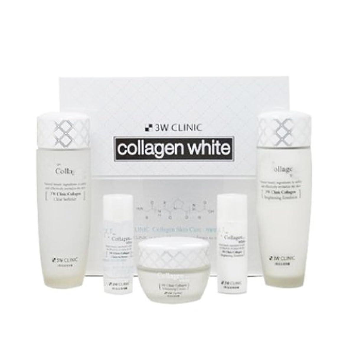 ゆるく公然と香港3Wクリニック[韓国コスメ3w Clinic]Collagen White Skin Care コラーゲンホワイトスキンケア3セット樹液,乳液,クリーム [並行輸入品]