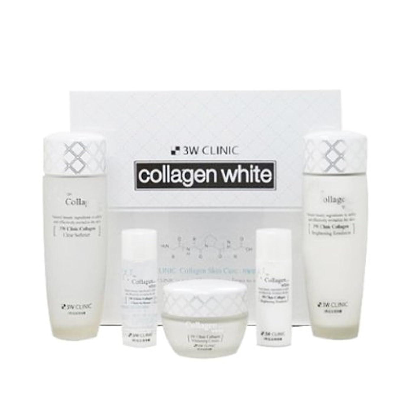 ひどくどんよりした愛国的な3Wクリニック[韓国コスメ3w Clinic]Collagen White Skin Care コラーゲンホワイトスキンケア3セット樹液,乳液,クリーム [並行輸入品]
