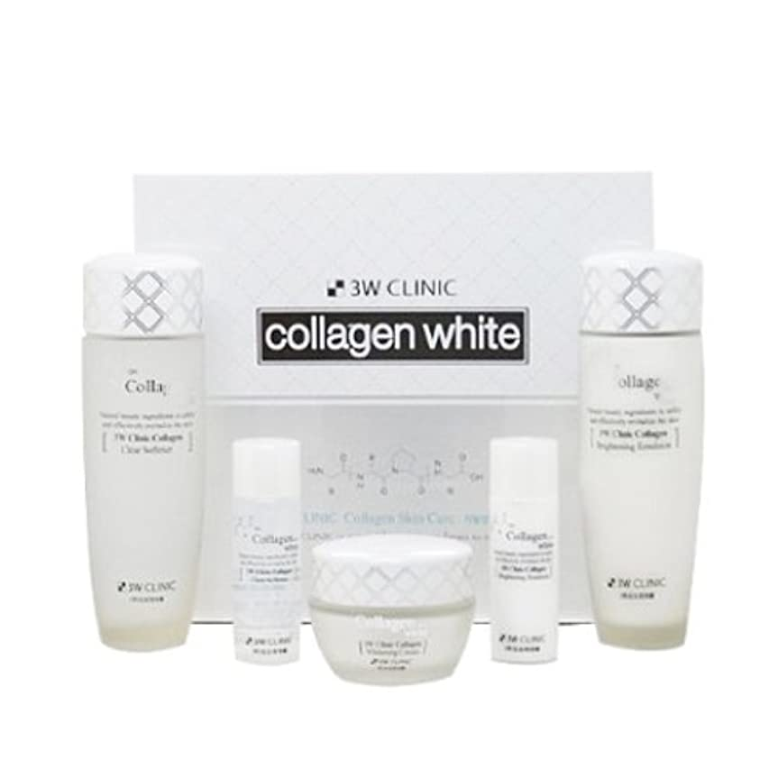 3Wクリニック[韓国コスメ3w Clinic]Collagen White Skin Care コラーゲンホワイトスキンケア3セット樹液,乳液,クリーム [並行輸入品]