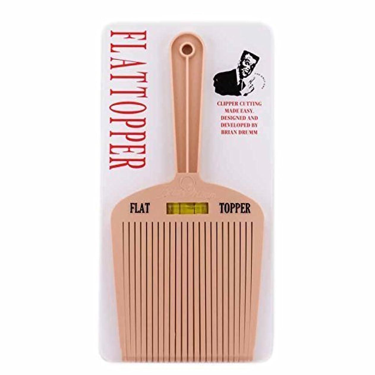 保守的風邪をひく癒すBrian Drumm Flattopper I Machine Comb, White [並行輸入品]