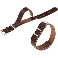 Niome 18mm/20mm/22mm Unique Wrist Watch Band Strap Popular Stainless Steel For Men Dark Brown-20mm