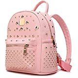 RMXMY Simple Personality Backpack College Wind Girl Fashion Creative Backpack Trend Rivet Portable Lightweight Mini Backpack Multi-Function Backpack (Color : Pink)