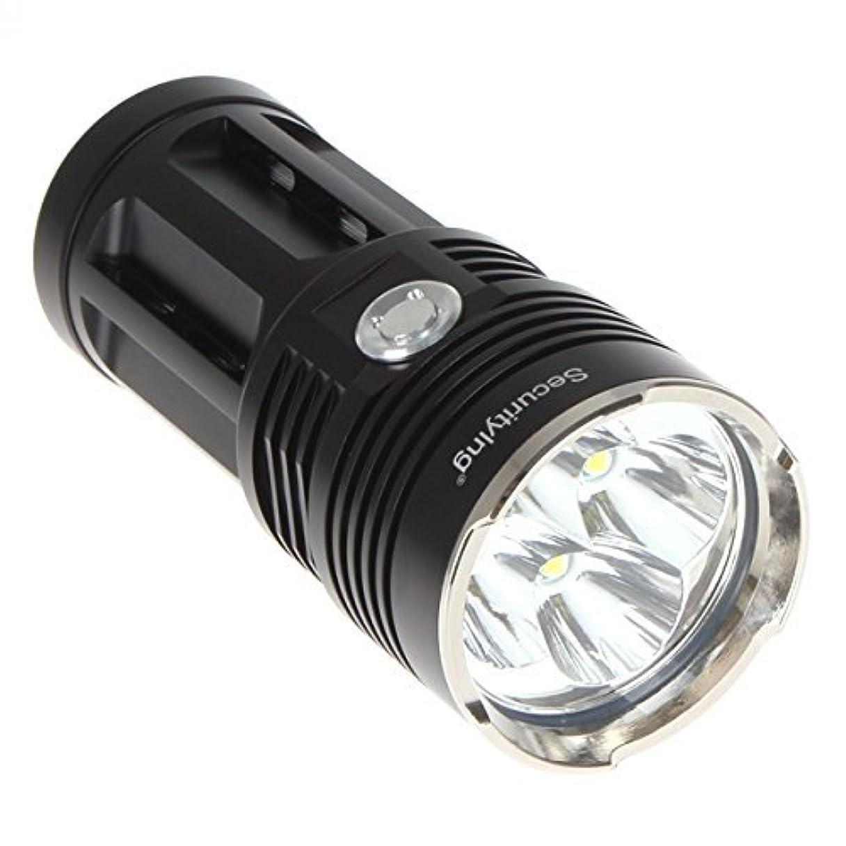 ギネス中で自発Securitylng 2400ルーメン 防水懐中電灯 3モード 4 x Cree XM-L T6 LED 超高輝度 18650電池対応
