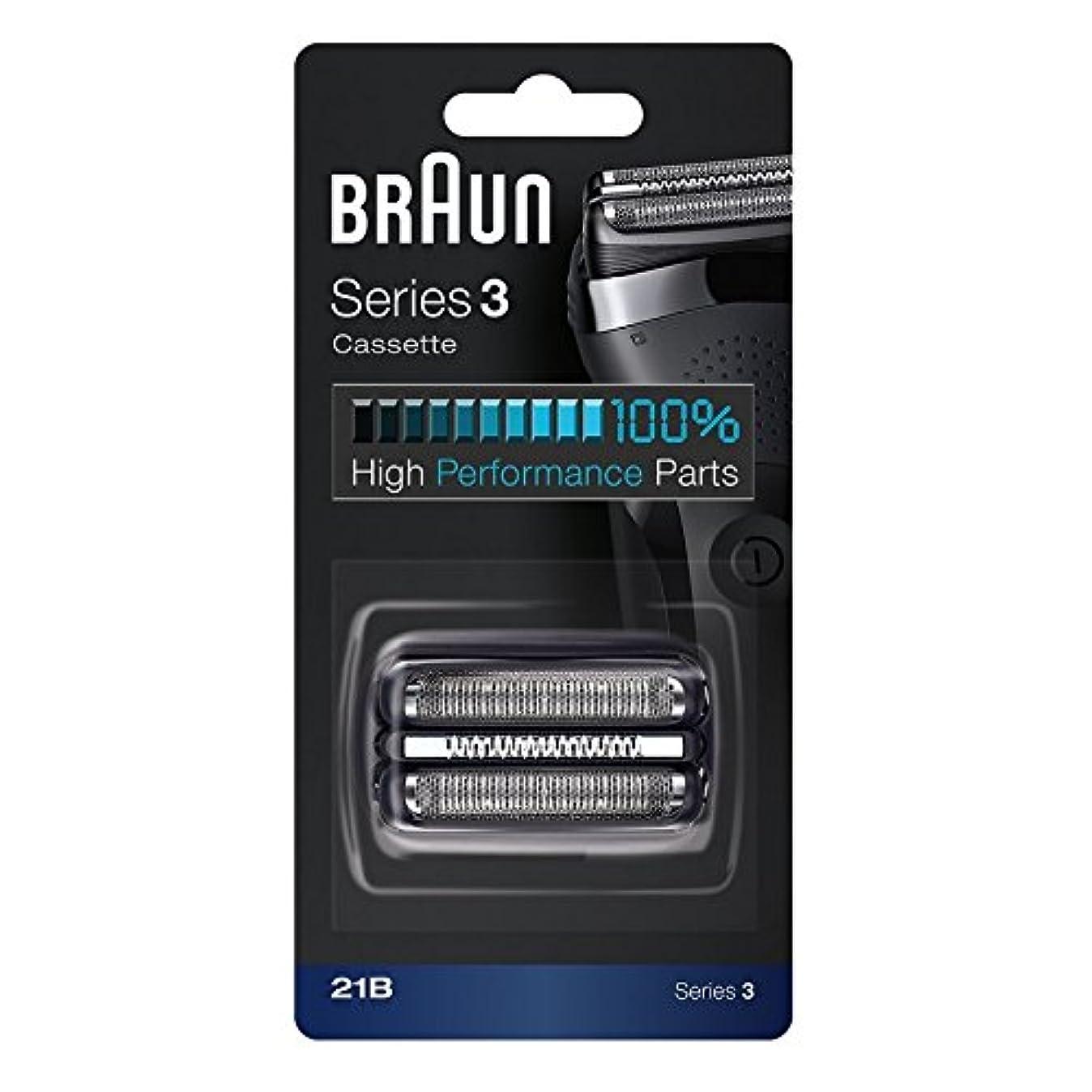 常にヤング母Braun 21B 交換ヘッド Black For Series 3 [並行輸入品]