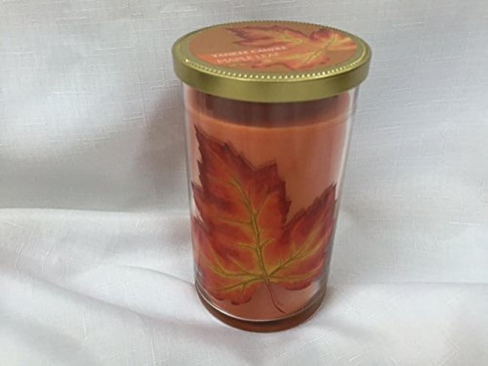 知らせるインストール暫定のYankee Candle Maple Leaf Medium Perfect Pillar Candles オレンジ 1326740-YC