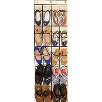 (Beige) - MARZ Products 20 Pocket Over-Door Shoe Organiser, in Beige