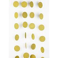 SUNBEAUTY 2本 ゴールドサークル  グリーター キラキラなペーパーガーランド ホームデコレーション インテリア 写真背景