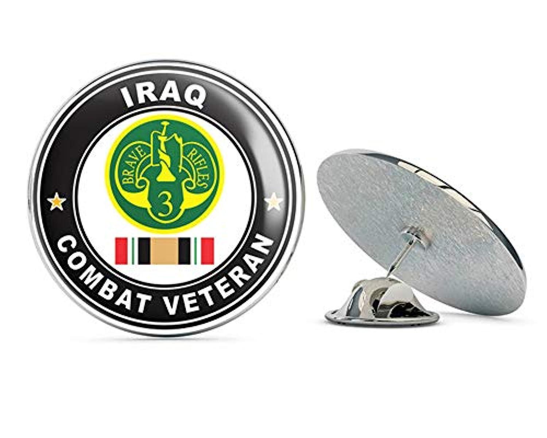 米陸軍 第3装甲騎兵連隊 イラク戦闘退役軍人 メタル0.75インチラペルハットピンタイタックピンバック