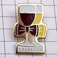 限定 レア ピンバッジ ボルドーワイン赤白グラス酒 ピンズ フランス