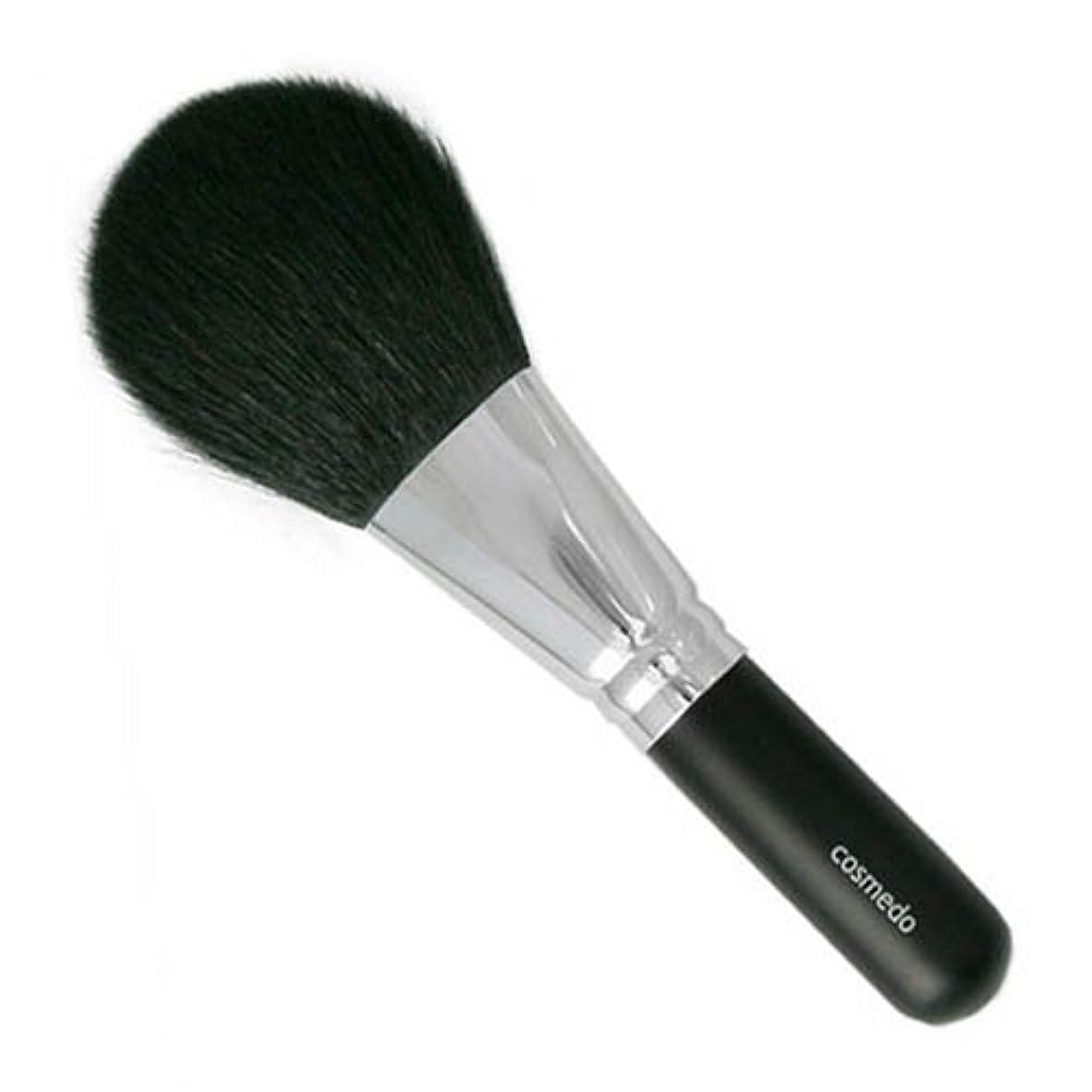 目的ビヨン最終的に匠の化粧筆コスメ堂 熊野筆 メイクブラシ 毛量たっぷり ジャンボフェイスブラシ  山羊毛(白尖/粗光峰) 日本製 ( 黒軸ロングタイプ / パウダーブラシ / フェイスブラシ ) E-16