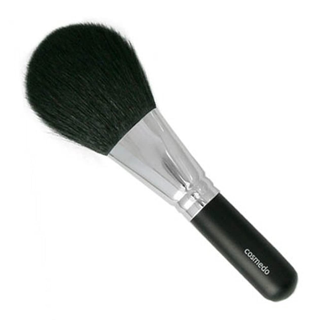 免疫できればヒント匠の化粧筆コスメ堂 熊野筆 メイクブラシ 毛量たっぷり ジャンボフェイスブラシ  山羊毛(白尖/粗光峰) 日本製 ( 黒軸ロングタイプ / パウダーブラシ / フェイスブラシ ) E-16