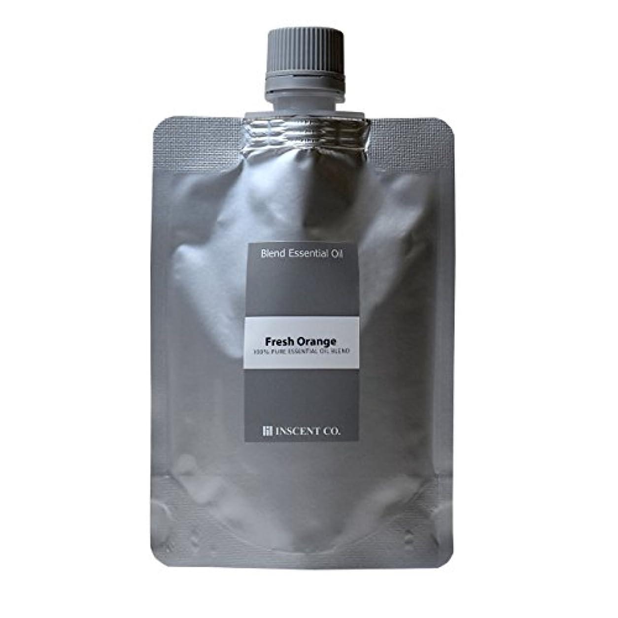 線ハンサム完全に乾く(詰替用 アルミパック) アロマ ブレンド フレッシュオレンジ 100ml インセント アロマオイル