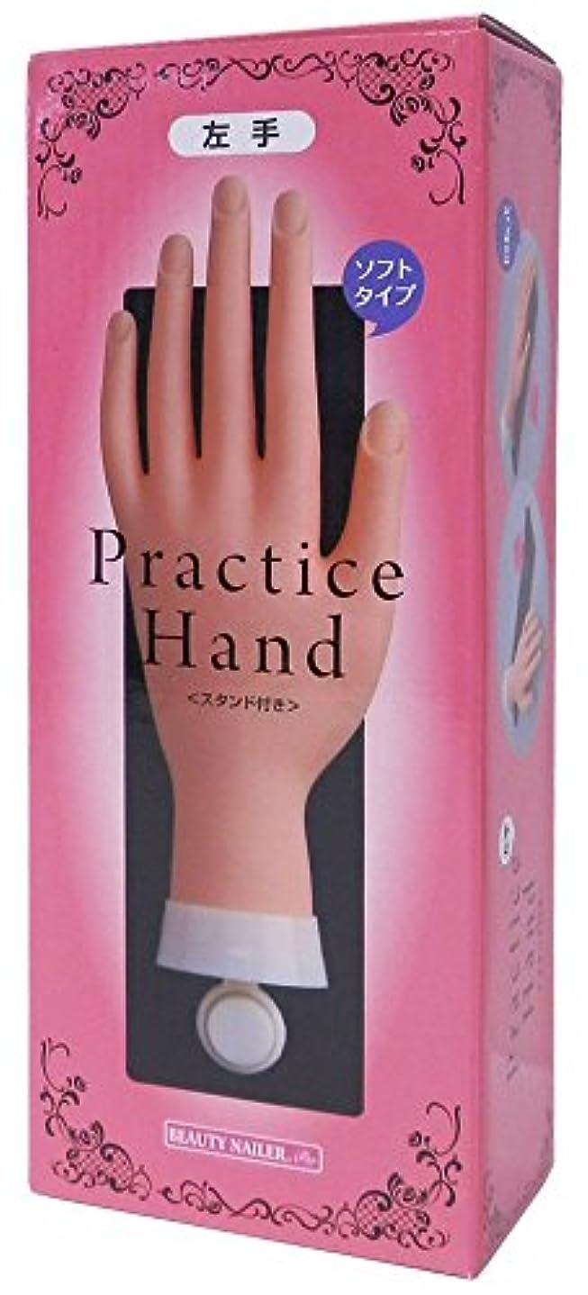 リベラル爪しょっぱいビューティーネイラー プラクティスハンド スタンド付 左手 PH-6