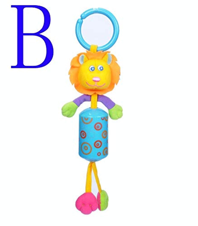 ベビーベビーベッド ベビーカー ラトル おもちゃ カトゥーン ライオン 象 キリン ウサギ ぬいぐるみ リング ベル おもちゃ 新生児 ソフト ベビーカー ベッド プラム ラトル おもちゃ Free Size