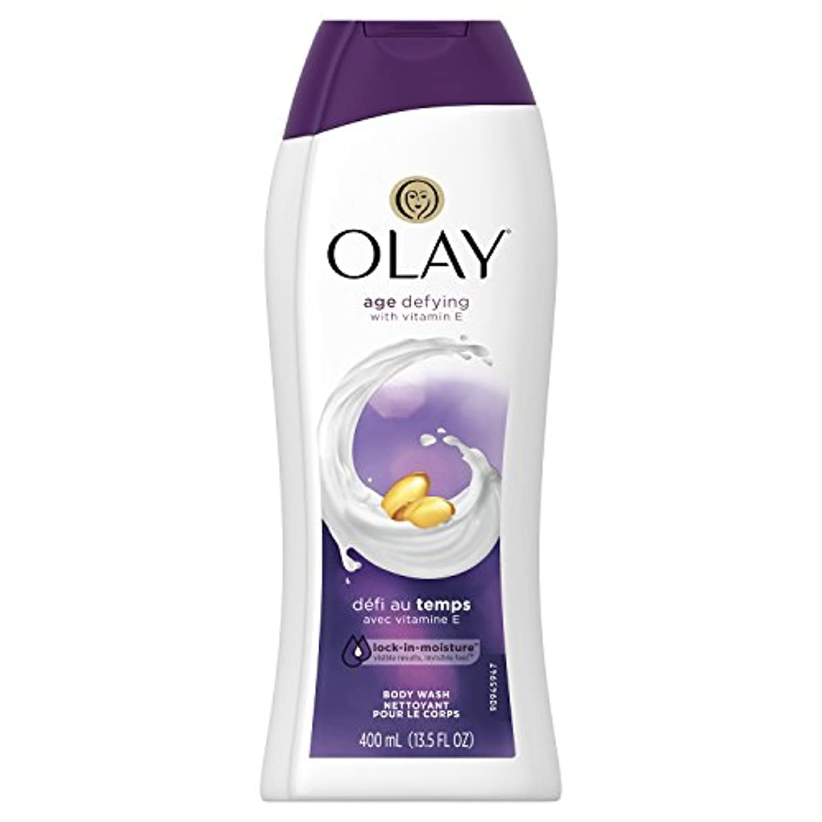 証拠ナット見えるolay age defying body wash 13.5fl