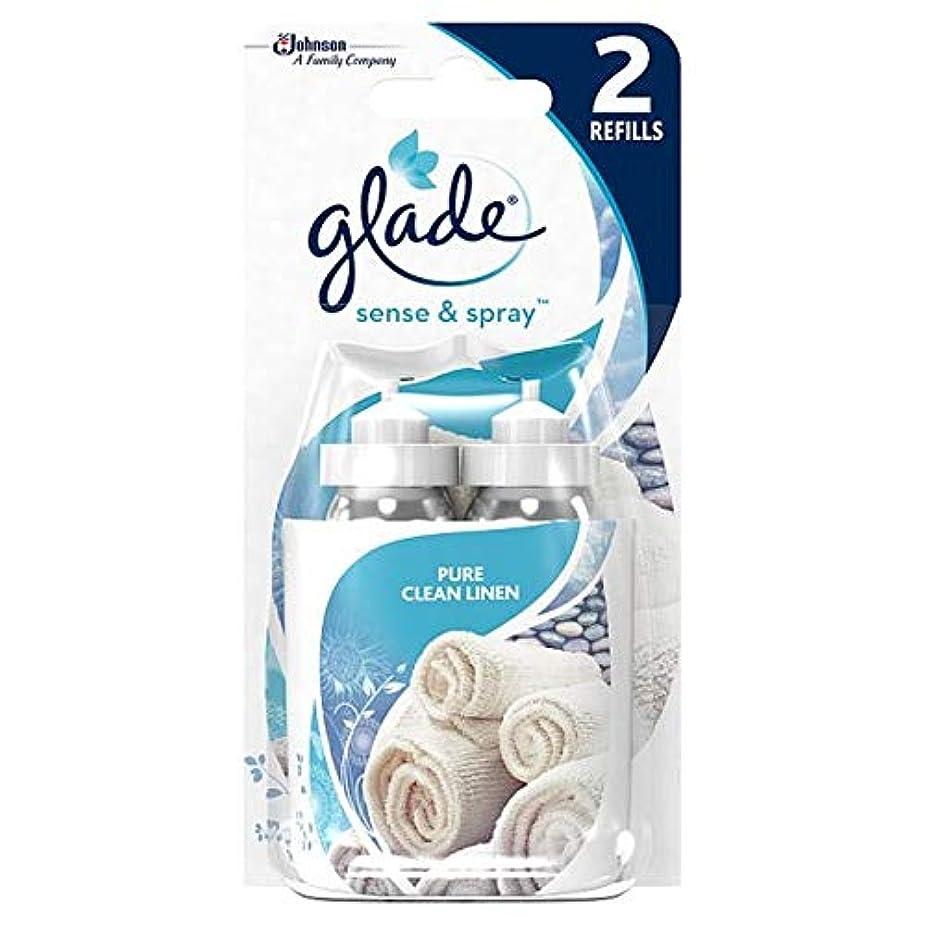 松修復駐地[Glade] 空き地感とスプレーデュオは、クリーンリネンを補充します - Glade Sense And Spray Duo Refill Clean Linen [並行輸入品]