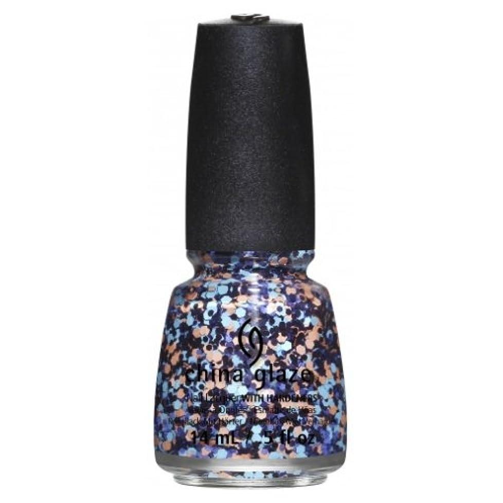 上へきゅうりオレンジCHINA GLAZE Nail Lacquer - Suprise Collection - Glitter Up (並行輸入品)