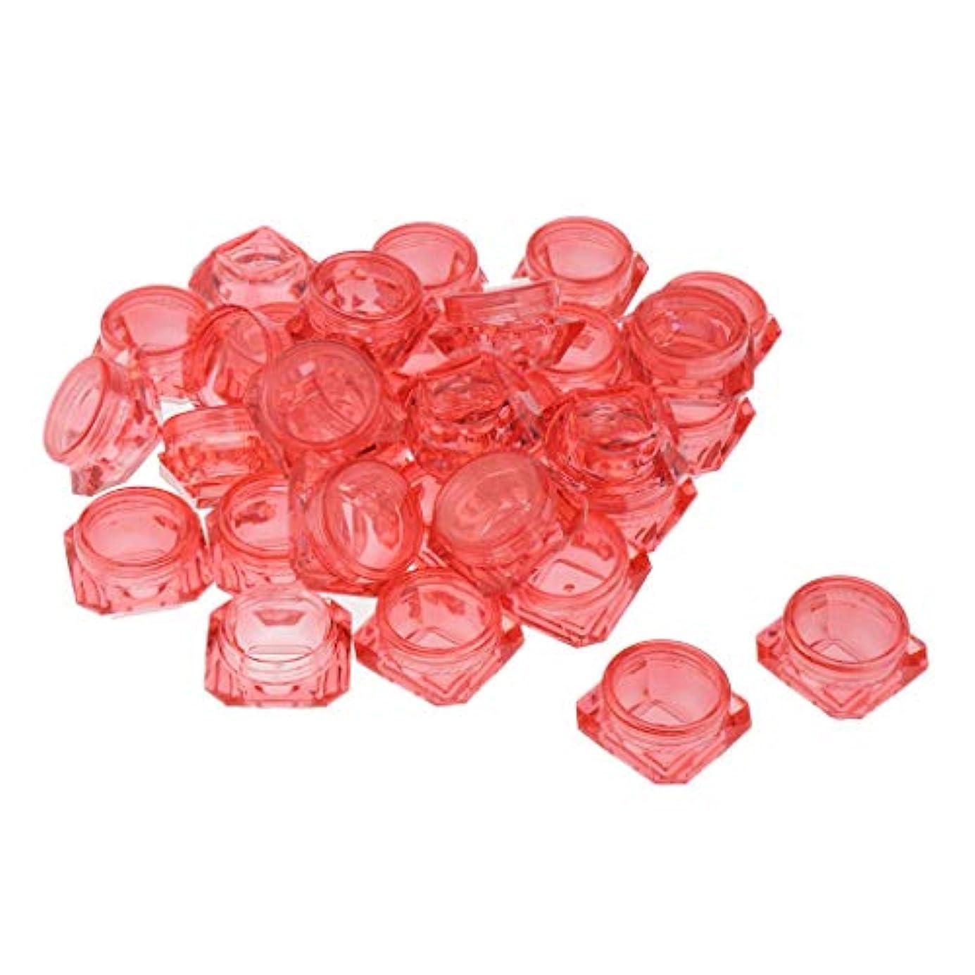 集中的な皮肉な排泄物CUTICATE 丸ボトル 小分け容器 小分けボトル 詰め替えボトル 3g クリームケース 化粧品 携帯収納用 30個入 - 赤