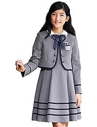 [CHOPIN(ショパン)] 卒業式 小学生 スーツ 女の子 8901-2501 フェイクボタンボレロとラインワンピースのアンサンブル 140 150 160 165cm