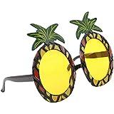 SNOWINSPRING ハワイのビーチサングラス パイナップルゴーグル 仮装パーティーの用品 パイナップルメガネ