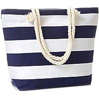 Leisureland Canvas Tote Bag, Travel Tote Bag, Water Resistant Beach Bag