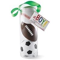 Mud Pie Sports Squirt Toys, Football/Baseball/Soccer ball Bath Toys, Set of 3 by Mud Pie [並行輸入品]