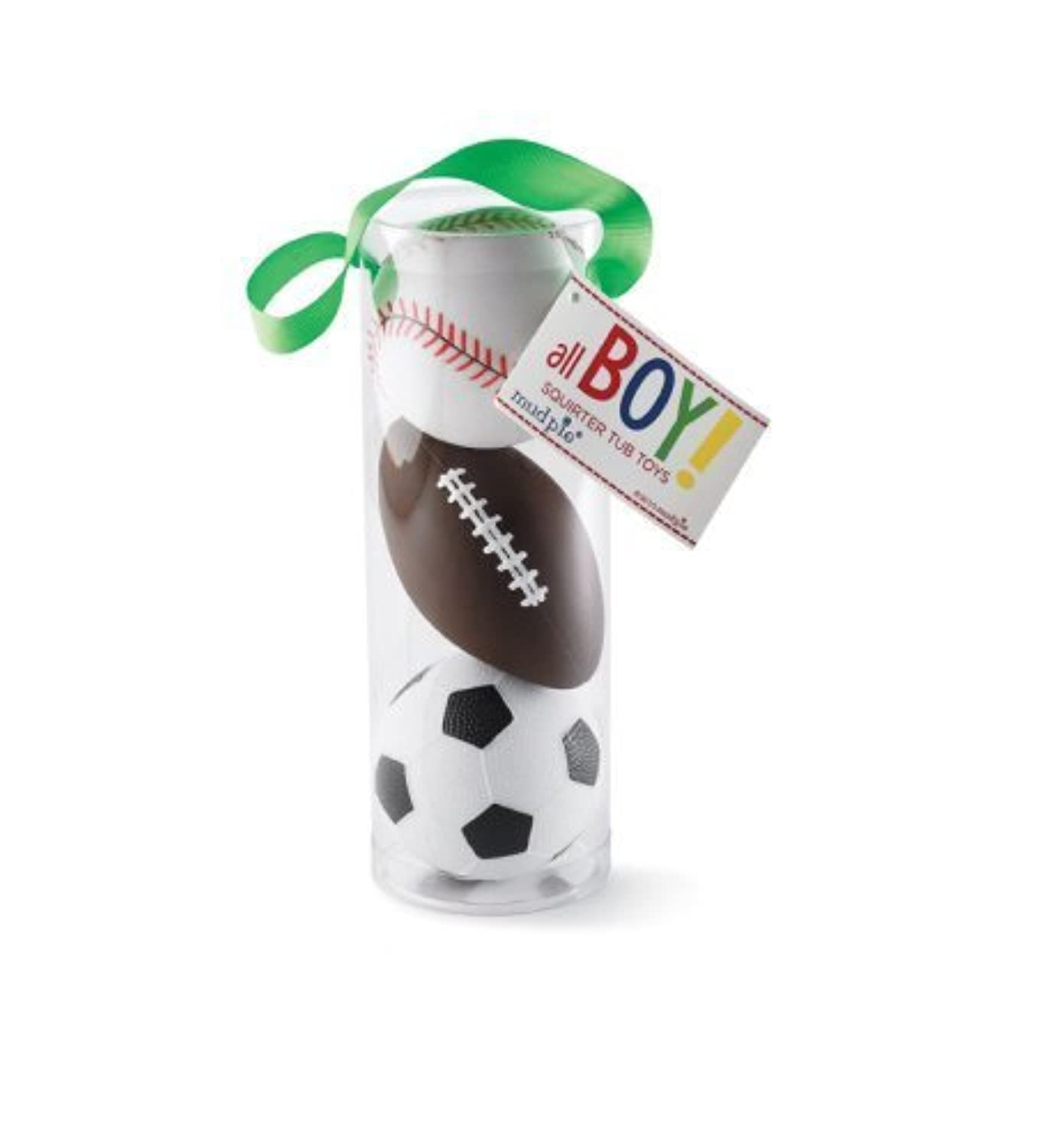 Mud Pie Sports Squirt Toys, Football/Baseball/Soccer ball Bath Toys, Set of 3 by Mud Pie [並行輸入品]