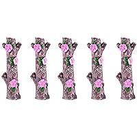 SONONIA 装飾 ミニチュア マイクロ ランドスケープ ミニ樹脂ピーチ  切り株 装飾 DIY 全2サイズ - 幅 - 6.3cm