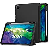"ESR for iPad Pro 11"" Case 2020 & 2018 with Pencil Holder, Rebound Pencil iPad Case with Soft Flexible TPU Back Cover, Auto Sleep/Wake, and Multiple Viewing Stand Modes - Black"